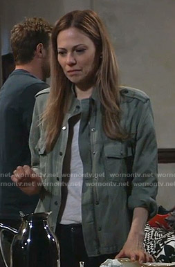 Kim's green utility jacket on General Hospital
