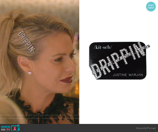 Pin: Drippin Rhinestone Bobby Pin by Kitsch worn by Dorit Kemsley  on The Real Housewives of Beverly Hills