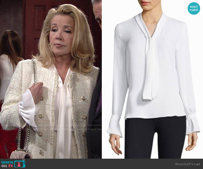 Kobi Halperin Amber Blouse worn by Nikki Reed Newman (Melody Thomas-Scott) on The Young & the Restless