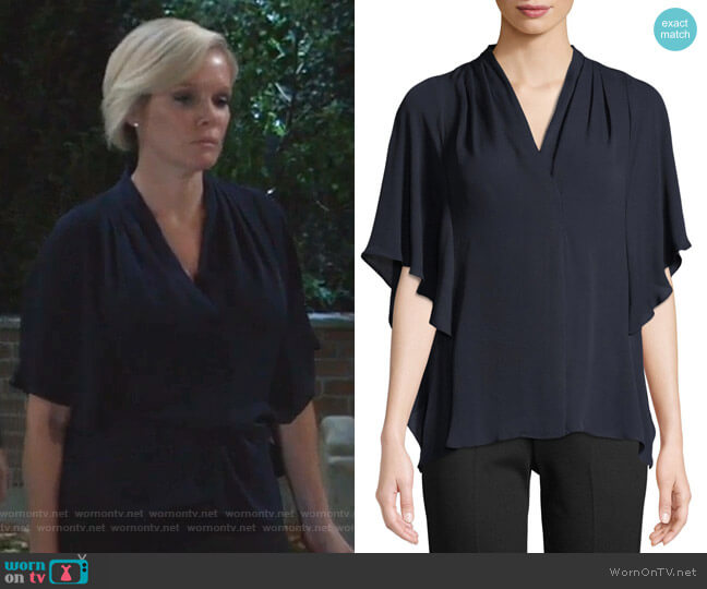Carin Blouse by Kobi Halperin worn by Ava Jerome (Maura West) on General Hospital