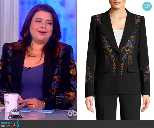 Carolyn Floral Embroidered Jacket by Kobi Halperin worn by Ana Navarro  on The View