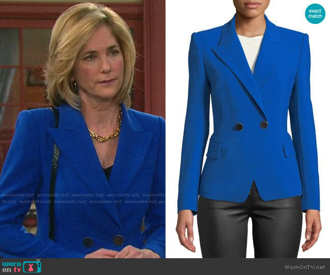Kobi Halperin Corynne Double-Breasted Blazer  worn by Eve Donovan (Kassie DePaiva) on Days of our Lives