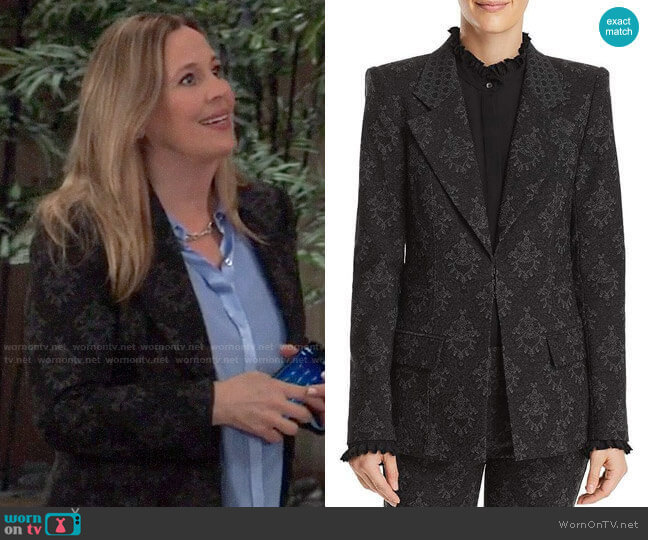 Kobi Halperin Porsha Printed Blazer worn by Laura Collins (Genie Francis) on General Hospital