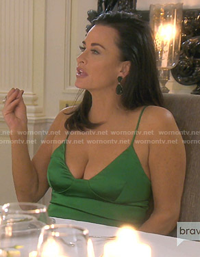Kyle's green camisole on The Real Housewives of Beverly Hills