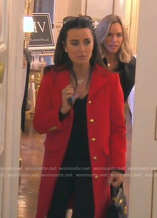 Kyle's Gucci red coat on The Real Housewives of Beverly Hills