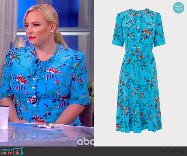 Montana Wildflower Dress by L.K. Bennett worn by Meghan McCain  on The View