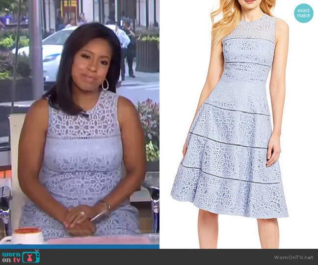 Lace Fit & Flare Dress by Eliza J worn by Sheinelle Jones  on Today