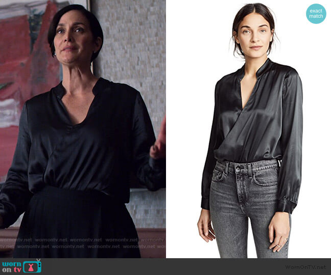 Marcella Bodysuit by L'Agence worn by Jeryn Hogarth (Carrie-Anne Moss) on Jessica Jones