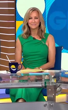 Lara's green asymmetric dress on Good Morning America