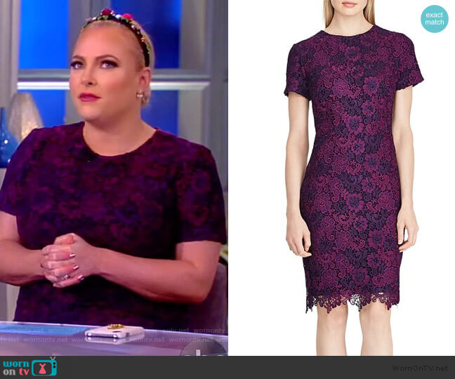 Floral Lace Dress by Lauren Ralph Lauren worn by Meghan McCain  on The View