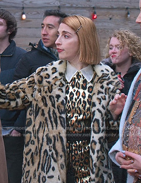 Lauren's leopard print dress and coat on Younger