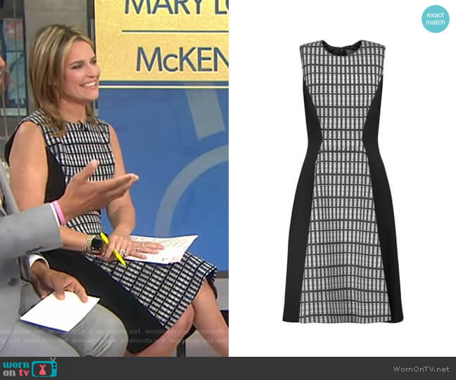 Sleeveless Flared Dress by Lela Rose  worn by Savannah Guthrie  on Today