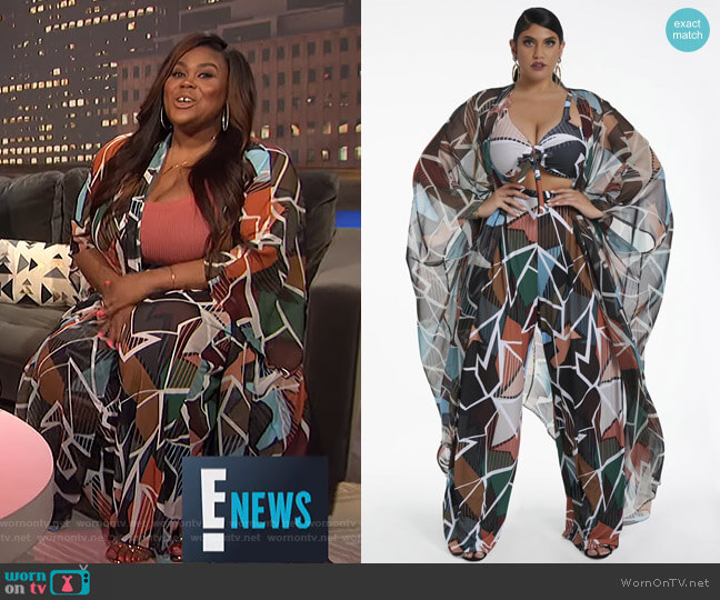 Lindsey Cover Up and Nipsey Pants by Rue107 worn by Nina Parker  on E! News