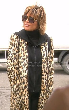 Lisa's leopard print coat on The Real Housewives of Beverly Hills