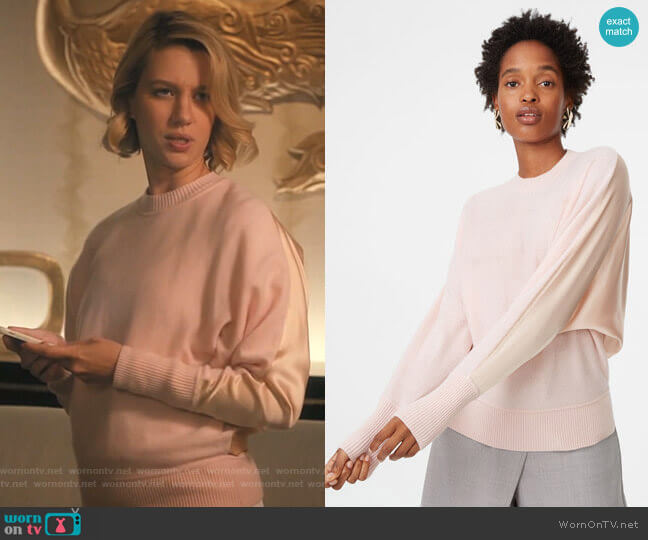 Lorenny Sweater in Flamingo by Club Monaco worn by Petra Solano (Yael Grobglas) on Jane the Virgin