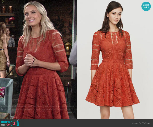 Maje Ripiza Dress worn by Abby Newman (Melissa Ordway) on The Young & the Restless