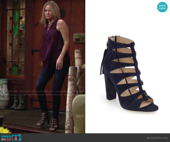 Marc Fisher Hindera Sandal by Marc Fisher LTD worn by Sharon Collins (Sharon Case) on The Young & the Restless