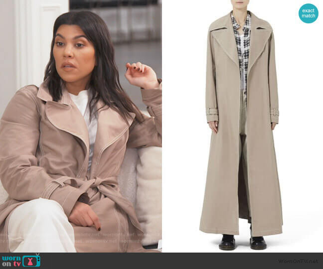 Redux Grunge Full-Length Belted Trench Coat by Marc Jacobs worn by Kourtney Kardashian  on Keeping Up with the Kardashians