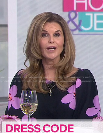 Maria Shriver's black floral dress on Today