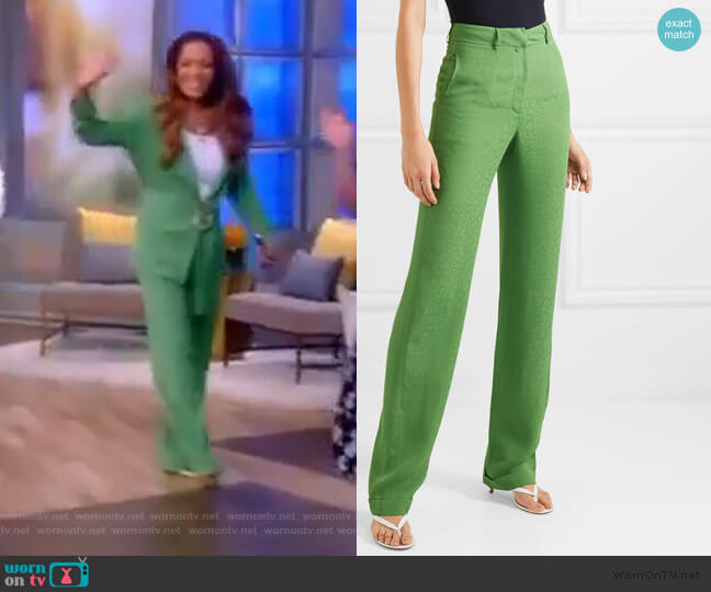 Jacquard straight-leg pants by Materiel worn by Sunny Hostin  on The View