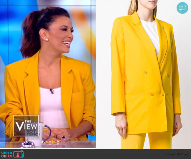 Double Breasted Blazer by Max Mara worn by Eva Longoria on The View