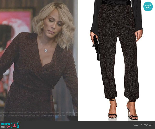 Metallic Knit Harem Pants by Juan Carlos Obando worn by Giselle (Nicole Ari Parker) on Empire