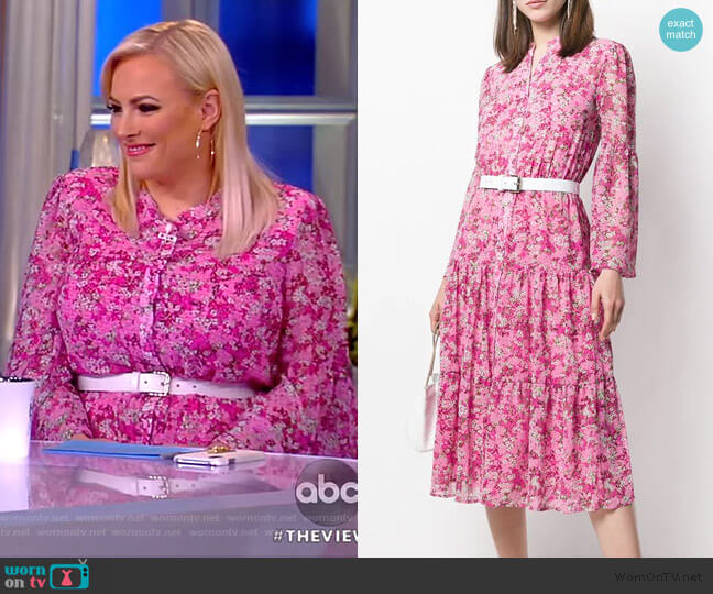 Enchanted Bloom Midi Dress by Michael Michael Kors worn by Meghan McCain  on The View