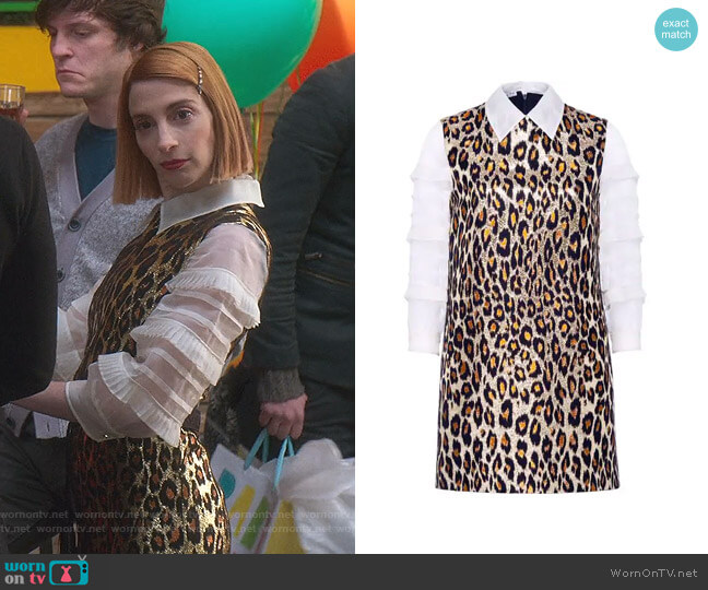 Brocade Leopard Dress by Miu Miu worn by Lauren (Molly Bernard) on Younger