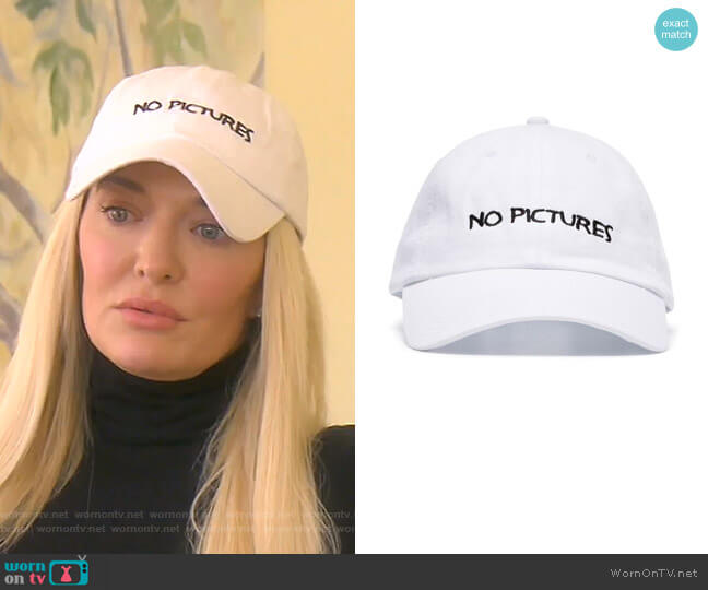 No Pictures cotton baseball cap by Nasaseasons worn by Erika Girardi  on The Real Housewives of Beverly Hills