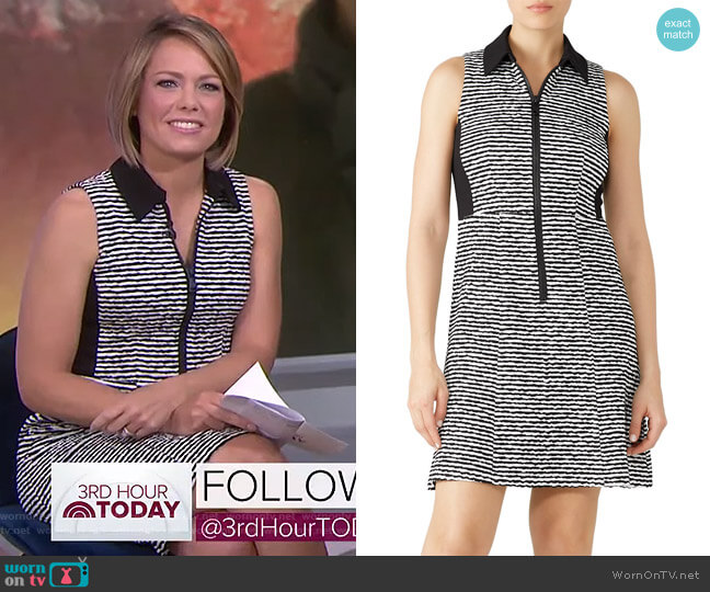Printed Zip Up Polo Dress by Nanette Lepore worn by Dylan Dreyer  on Today