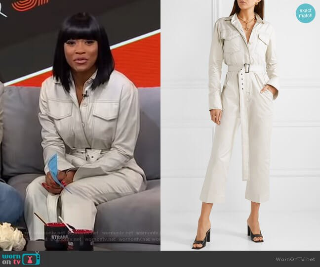 Workwear Belted Jumpsuit by Orseund Iris worn by Keke Palmer  on Good Morning America