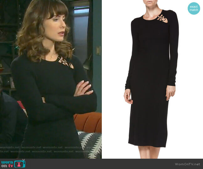 Caelan Dress by Paige worn by Sarah Horton (Linsey Godfrey) on Days of our Lives