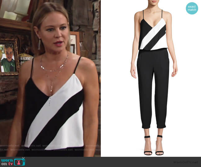 Frida Jumpsuit by Parker worn by Sharon Collins (Sharon Case) on The Young & the Restless