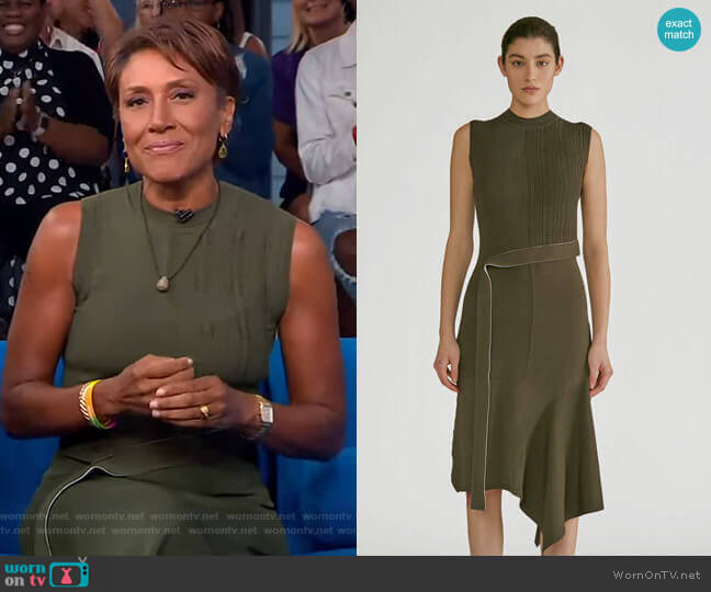 Patchwork Knit Dress by Yigal Azrouël worn by Robin Roberts  on Good Morning America