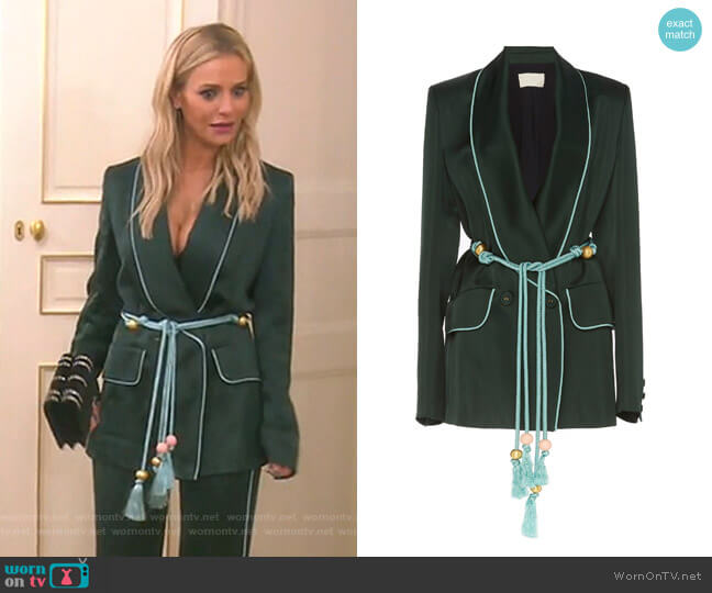 Satin Blazer by Peter Pilotto worn by Dorit Kemsley  on The Real Housewives of Beverly Hills