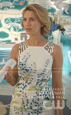 Petra's white floral strappy dress on Jane the Virgin
