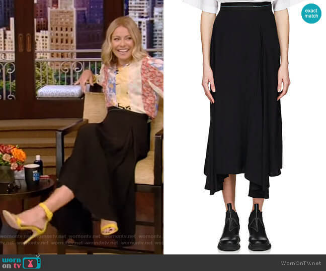 Pleated Godet Skirt by Prada worn by Kelly Ripa  on Live with Kelly & Ryan