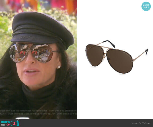 P8478 Aviator Sunglasses by Porsche Design worn by Kyle Richards  on The Real Housewives of Beverly Hills