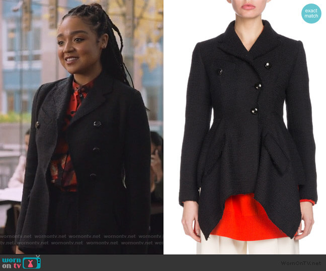 Asymmetric Tweed Blazer by Proenza Schouler worn by Kat Edison (Aisha Dee) on The Bold Type