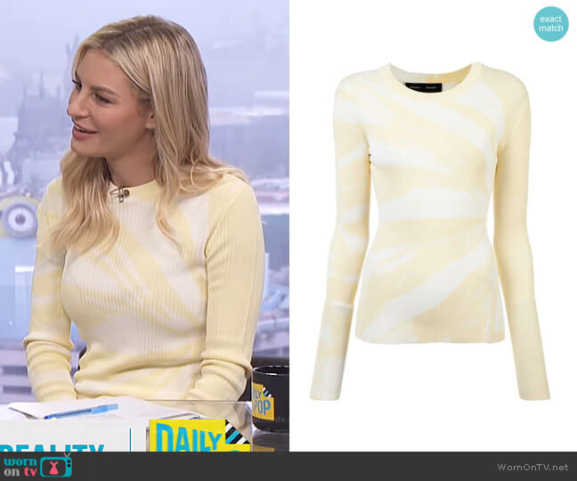 Tie Dye Rib Knit Top by Proenza Schouler worn by Morgan Stewart  on E! News