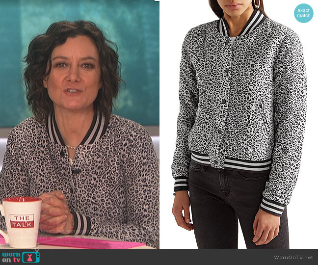 Leopard Print Jacket by R13 worn by Sara Gilbert  on The Talk