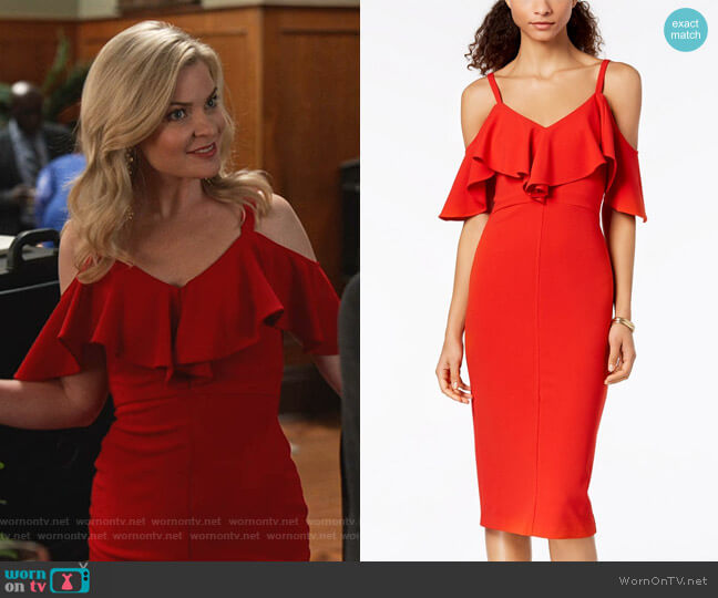 Marcella Dress by RACHEL Rachel Roy worn by Stephanie Borden (Kylee Evans) on Good Witch