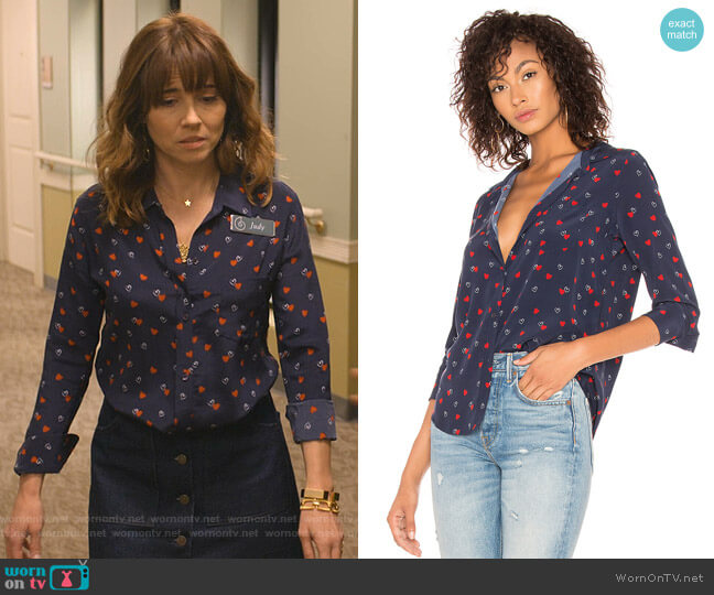 Kate Blouse by Rails worn by Judy Hale (Linda Cardellini) on Dead to Me