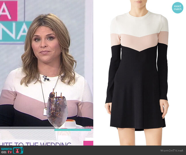Colorblock Mini Dress by RED Valentino worn by Jenna Bush Hager  on Today