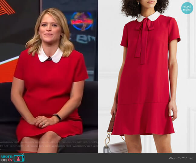 Crepe Dress by RED Valentino worn by Sara Haines  on Good Morning America