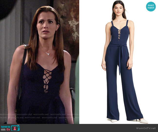 Ramy Brook Whitley Jumpsuit worn by Chelsea Lawson (Melissa Claire Egan) on The Young & the Restless