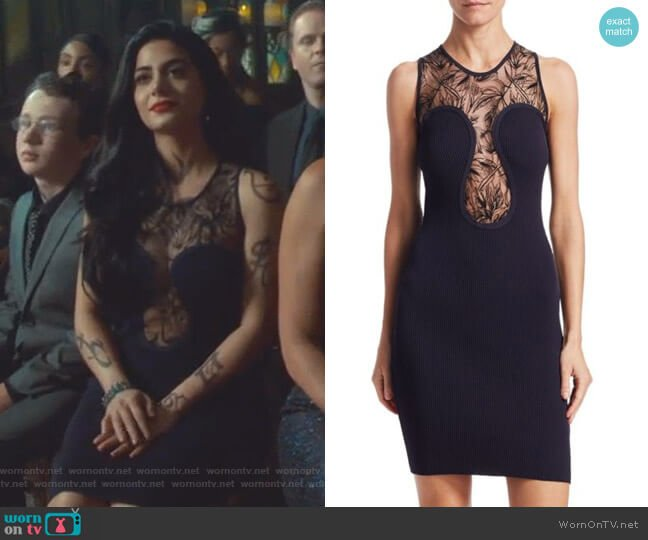 Lace Bodycon Dress by Roberto Cavalli worn by Isabelle Lightwood (Emeraude Toubia ) on Shadowhunters