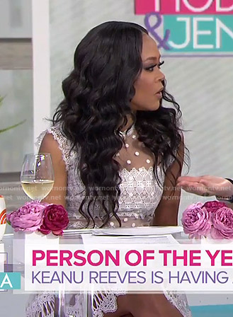 Robin Givens's white lace dress on Today