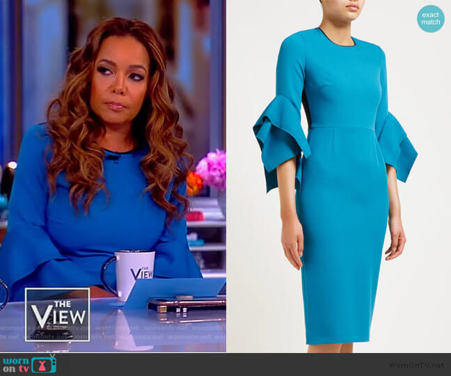 Ronda Dress by Roksanda worn by Sunny Hostin  on The View