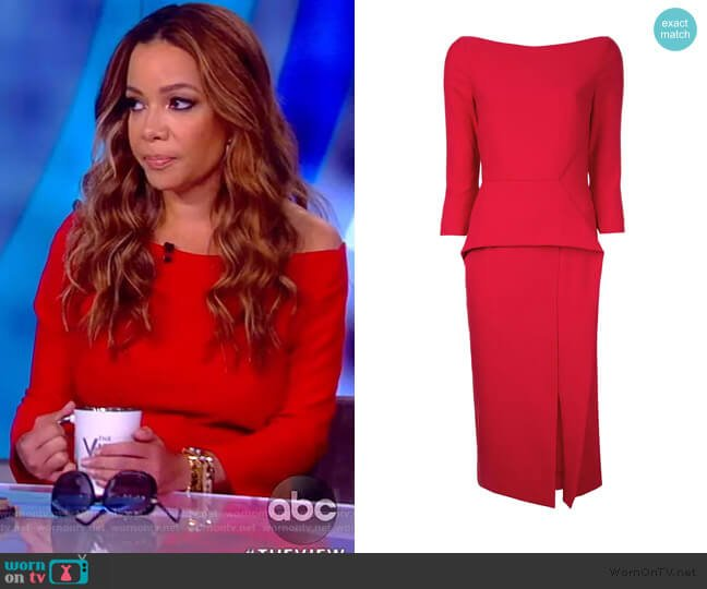 Ardingly Dress by Roland Mouret worn by Sunny Hostin  on The View